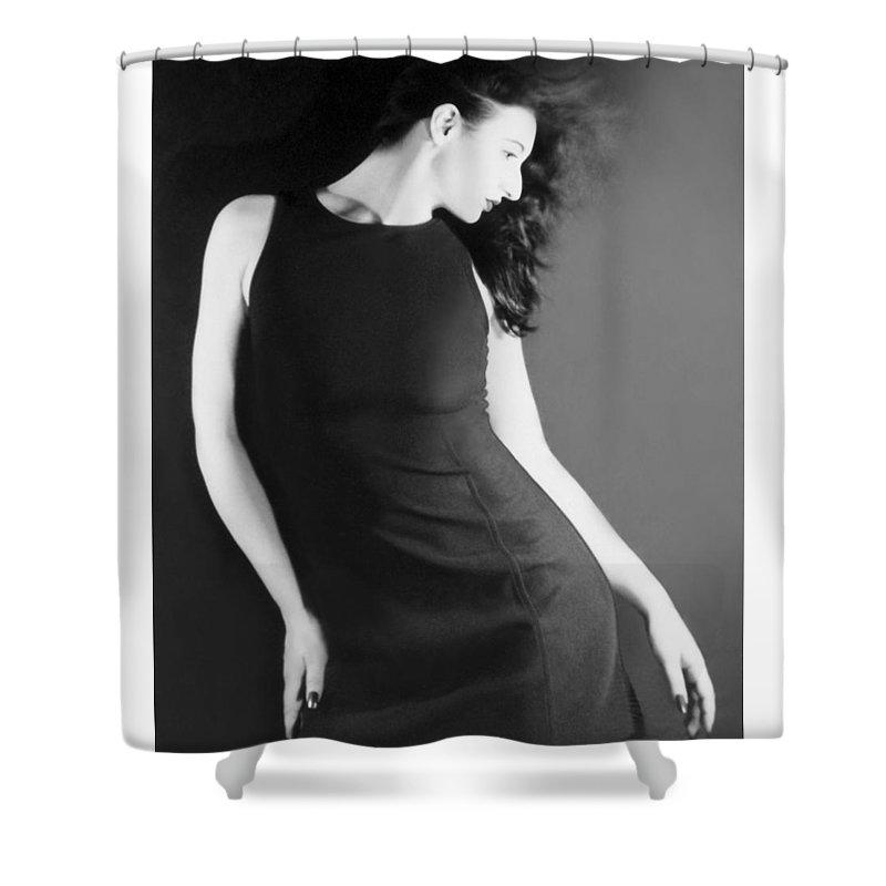 Beautiful Shower Curtain featuring the photograph The Freeze - Self Portrait by Jaeda DeWalt