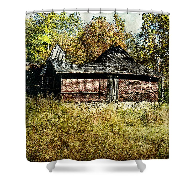Clouds Shower Curtain featuring the photograph The Gallery Is Closed by Matt Create