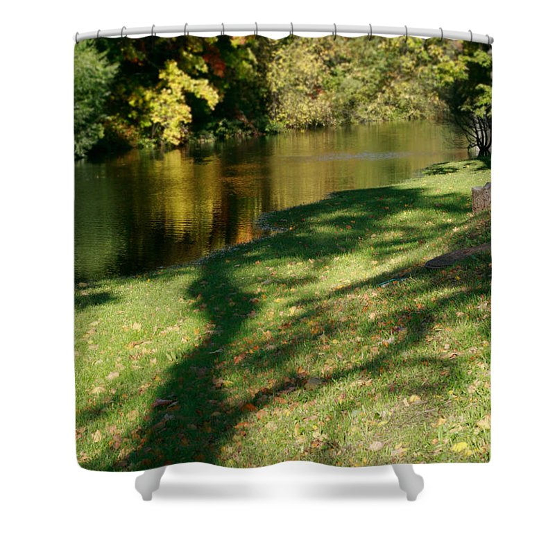 Fall Shower Curtain featuring the photograph The Game Of Shadows by Masha Batkova