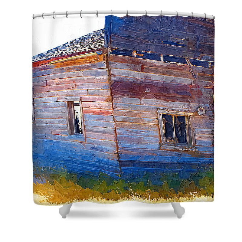 Window Shower Curtain featuring the photograph The Garage by Susan Kinney