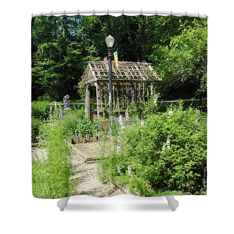 Floral Shower Curtain featuring the photograph The Garden by Jost Houk
