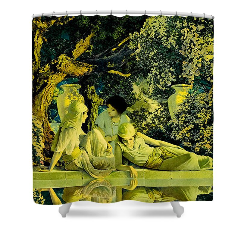 The Garden Of Allah Shower Curtain for Sale by Maxfield Parrish