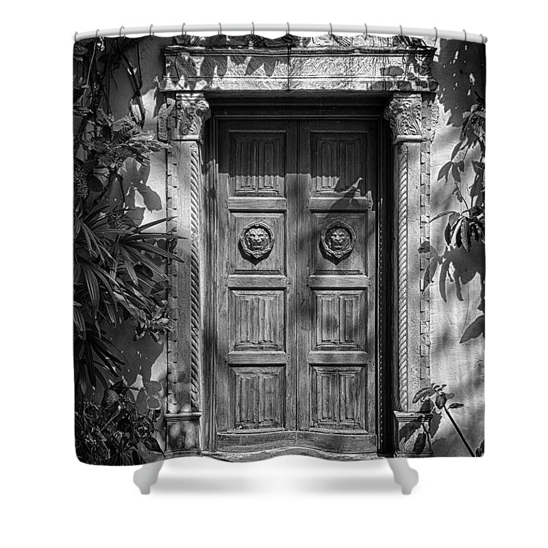 The Garden Tomb Shower Curtain featuring the photograph The Garden Tomb by Don Columbus