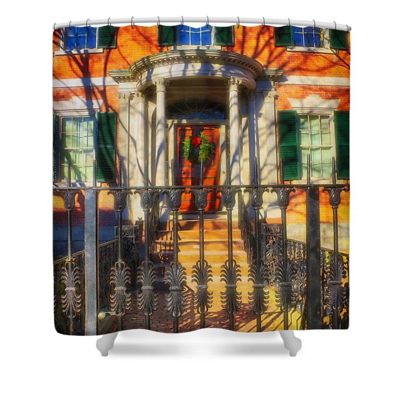 The Gardner-pingree House 1804 Shower Curtain featuring the photograph The Gardner-pingree House 1804 by Elizabeth Dow