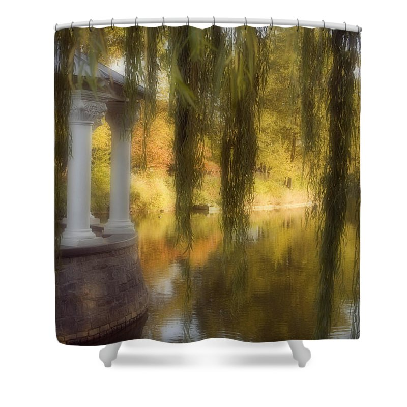 Water Shower Curtain featuring the photograph The Gazebo by Ayesha Lakes