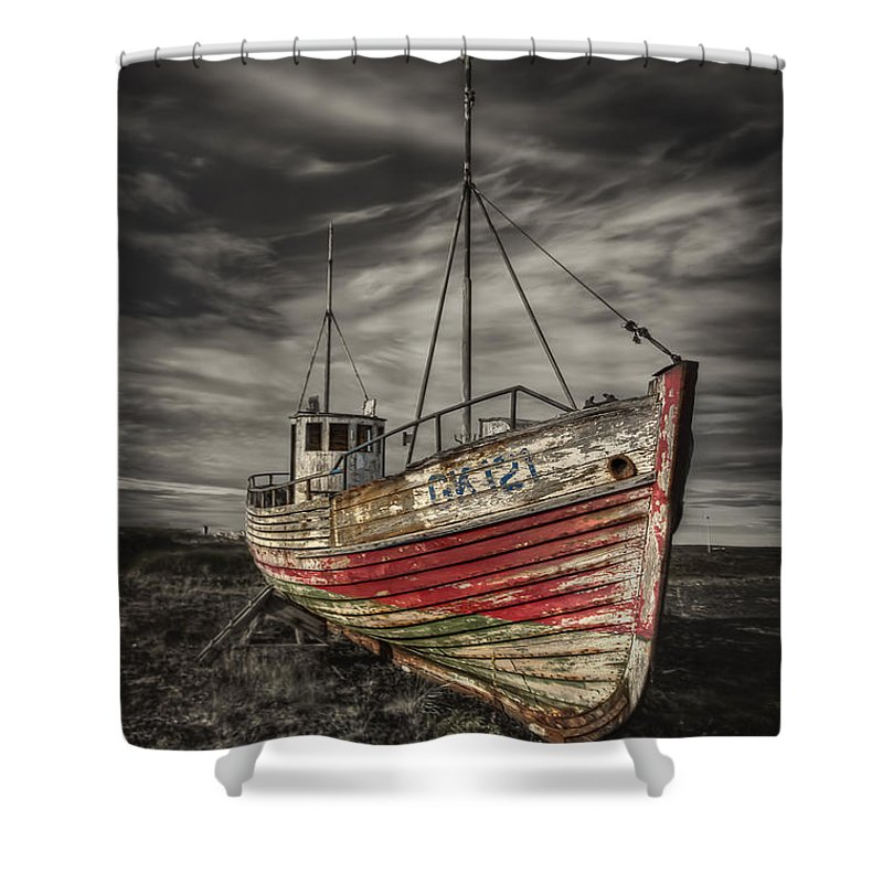 Boat Shower Curtain featuring the photograph The Ghost Ship by Evelina Kremsdorf
