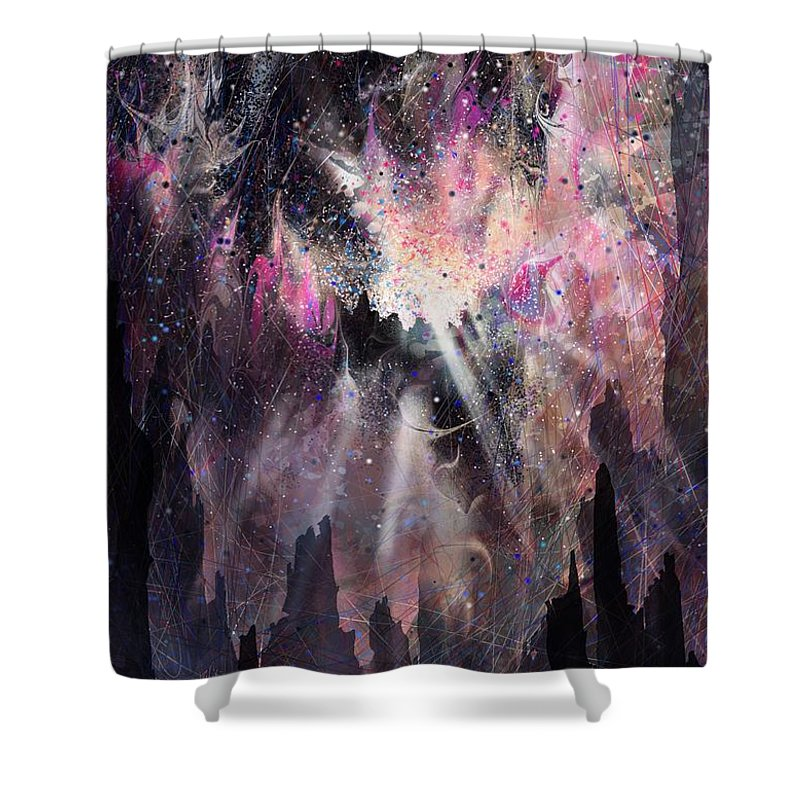 Landscape Shower Curtain featuring the digital art The Gift by William Russell Nowicki