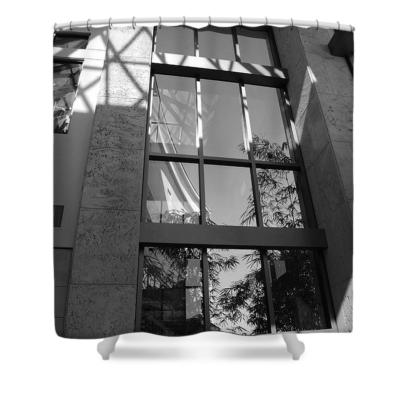 Sun Shower Curtain featuring the photograph The Glass Window by Rob Hans