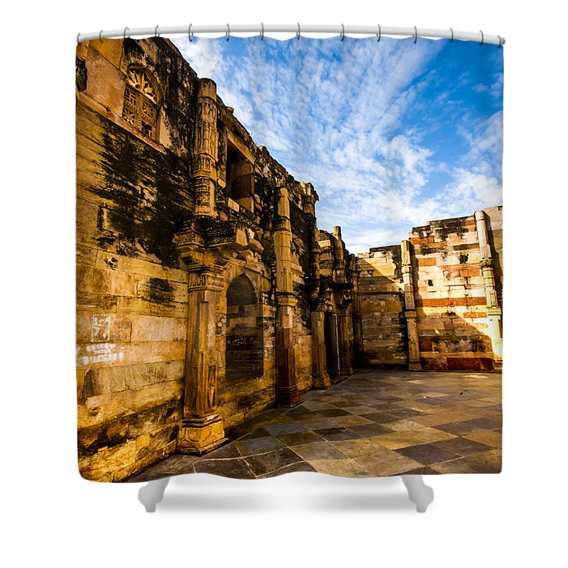 architecture Shower Curtain featuring the photograph The Glorious Ruins by Deepanjana Ghosh