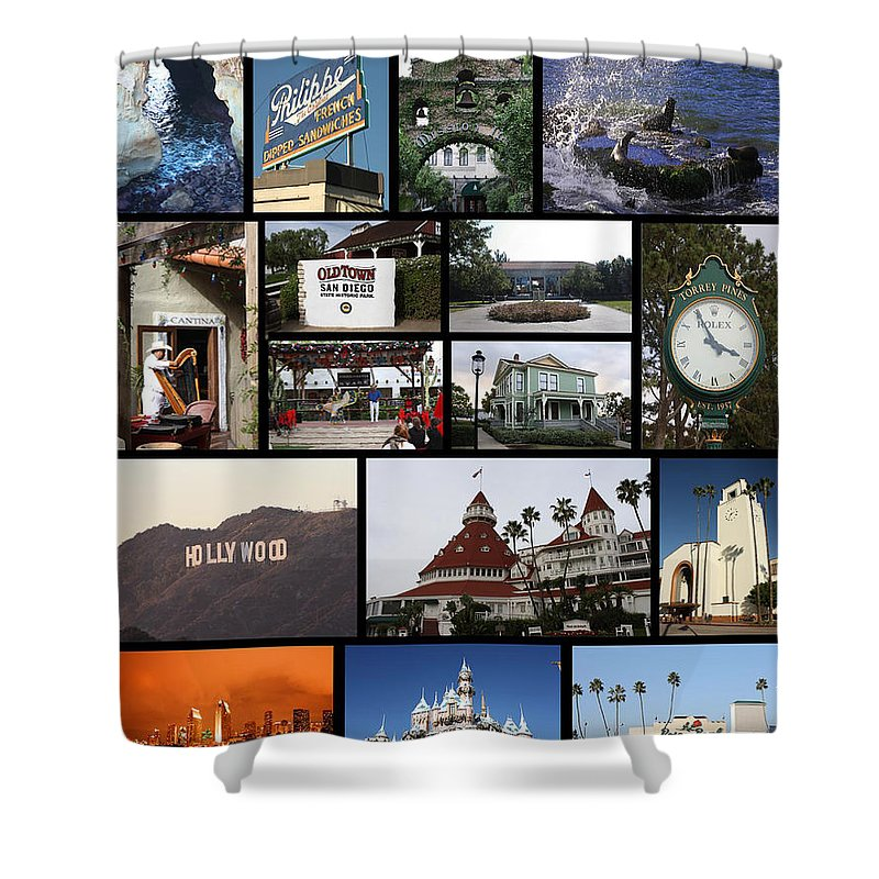 Shower Curtain featuring the photograph The Glow Of Southern California by Tommy Anderson
