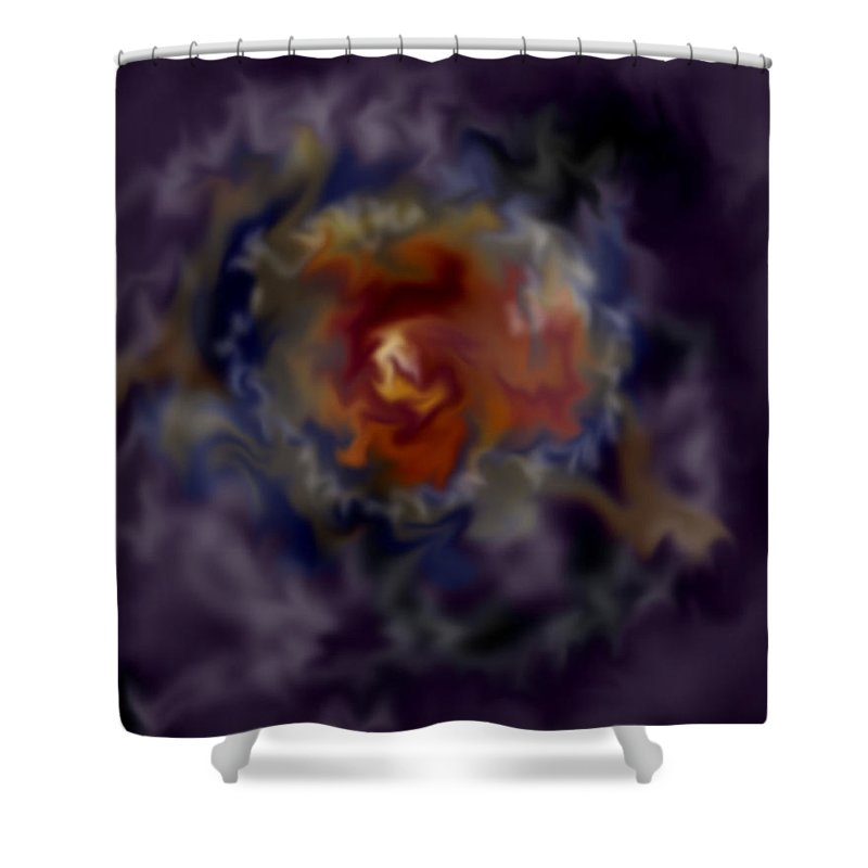Cosmos Shower Curtain featuring the painting The God Particle by Anne Norskog