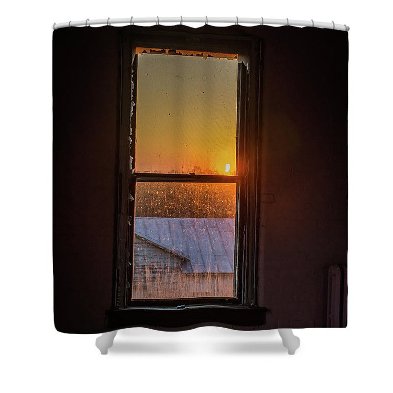 Sunset Shower Curtain featuring the photograph The Golden Sunset by Greg Sommer