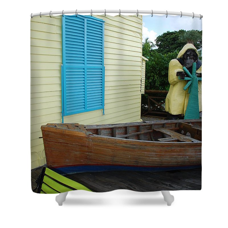 Architecture Shower Curtain featuring the photograph The Gordons Fisherman House by Rob Hans