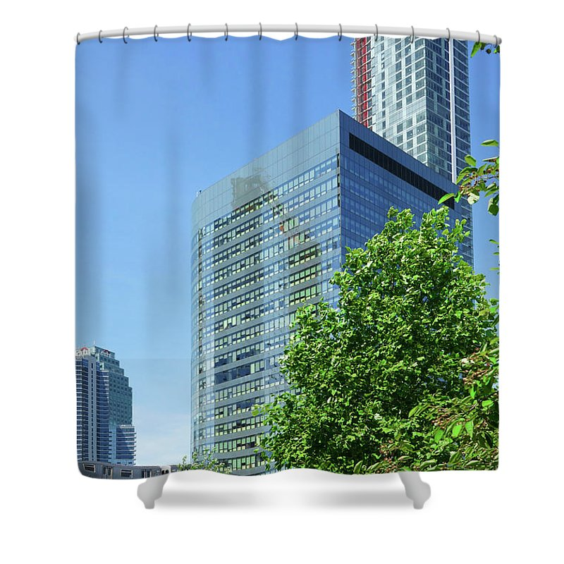 Building Shower Curtain featuring the photograph The Gotham Building by Cate Franklyn