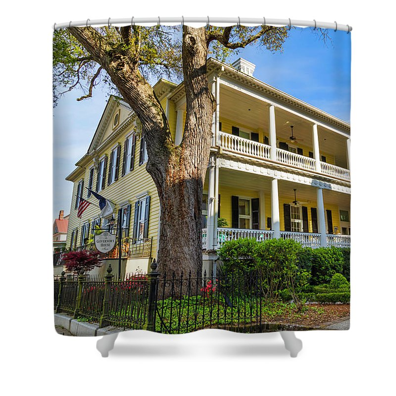 Governor Shower Curtain featuring the photograph The Governor's House Inn by Lorraine Baum