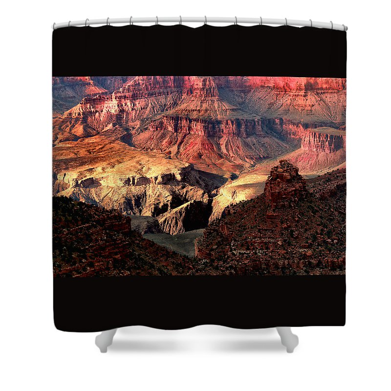 Arizona.the Grand Canyon Shower Curtain featuring the photograph The Grand Canyon I by Tom Prendergast