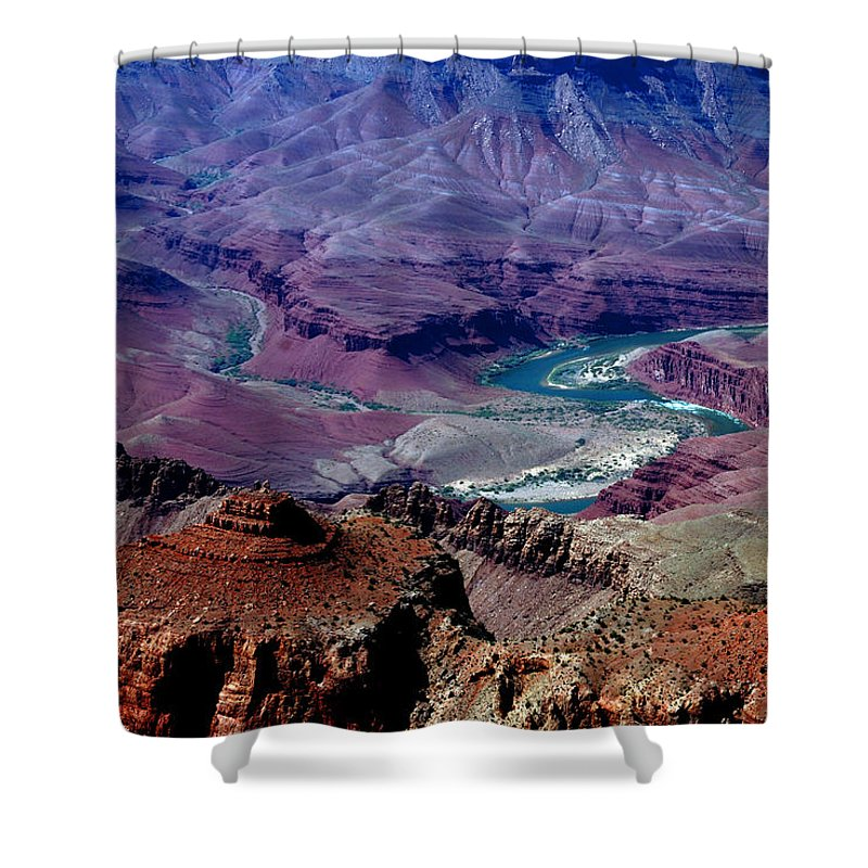 Photography Shower Curtain featuring the photograph The Grand Canyon by Susanne Van Hulst