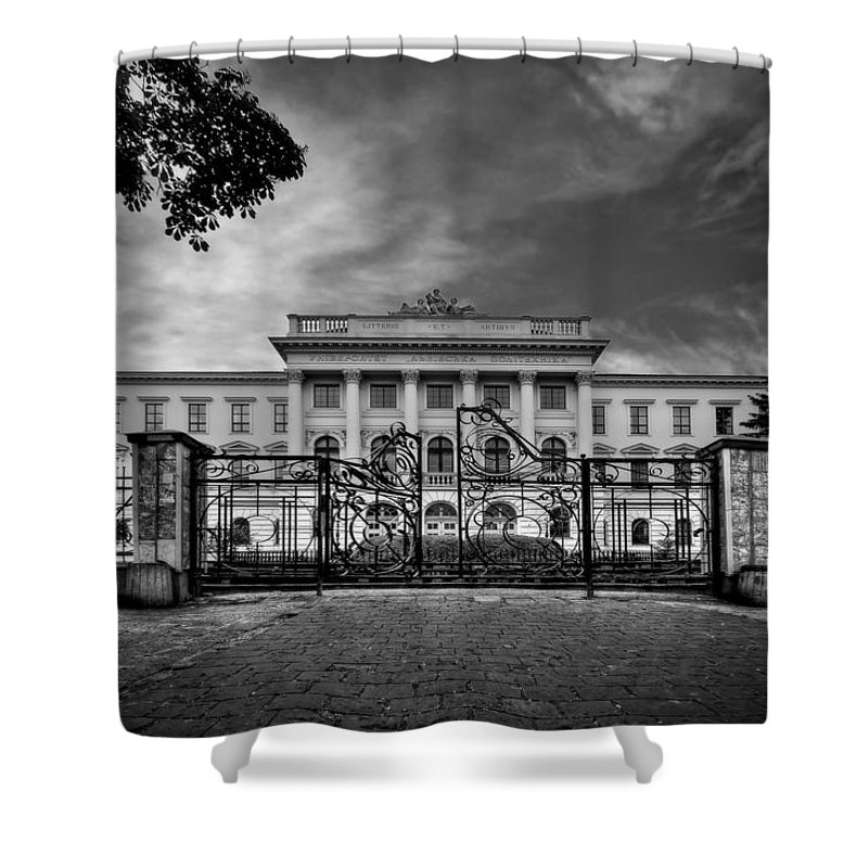 Gate Shower Curtain featuring the photograph The Grand Entrance by Evelina Kremsdorf
