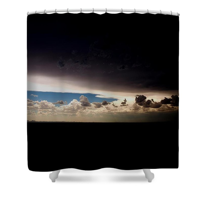 Sky Shower Curtain featuring the photograph The Great Divide No2 by M Pace