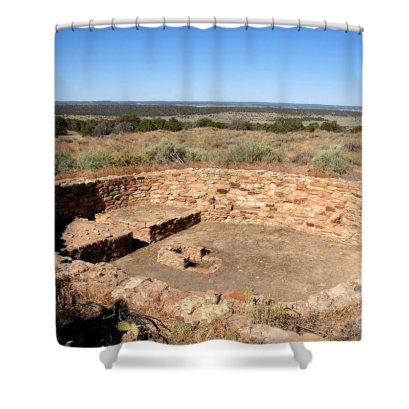 Great Kiva Shower Curtain featuring the photograph The Great Kiva by David Lee Thompson