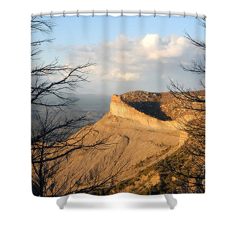 Mesa Shower Curtain featuring the photograph The Great Mesa by David Lee Thompson