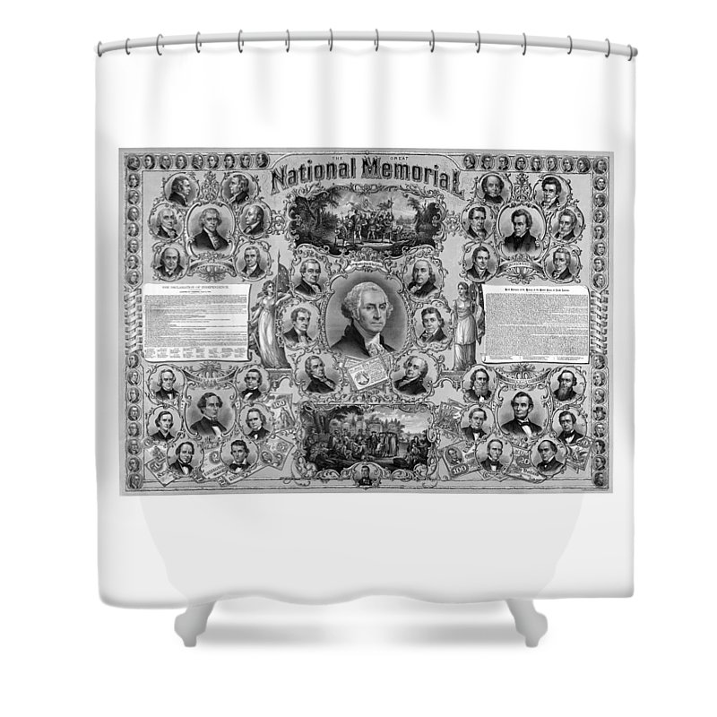 American History Shower Curtain featuring the mixed media The Great National Memorial by War Is Hell Store