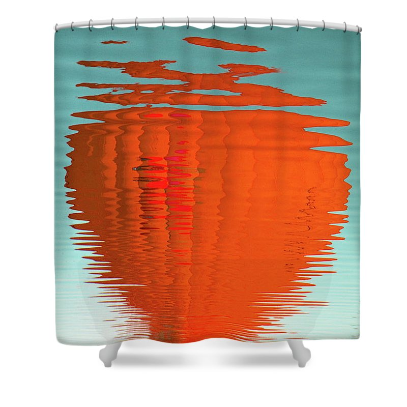 Orange Shower Curtain featuring the photograph Reflections by M Pace