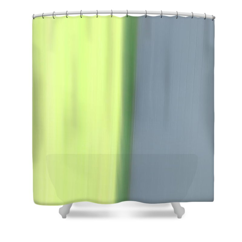 Shower Curtain featuring the photograph The Green Divide by Kevin Cote