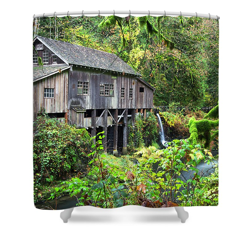 Grist Mill Shower Curtain featuring the photograph The Grist Mill, Amboy Washington by Hans Franchesco
