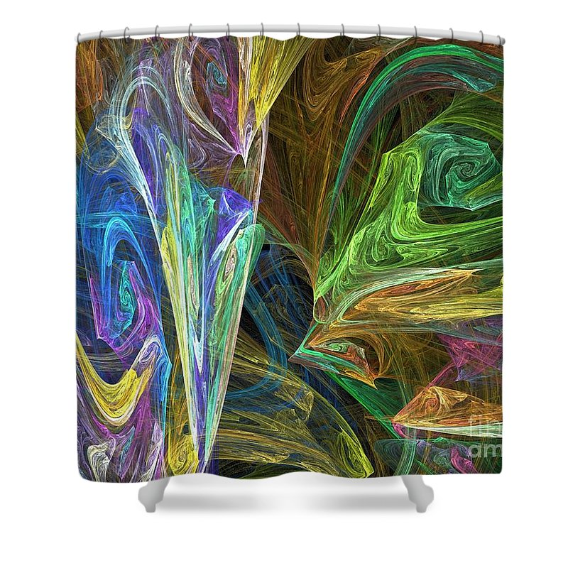 Fractals Shower Curtain featuring the digital art The Groove by Richard Rizzo
