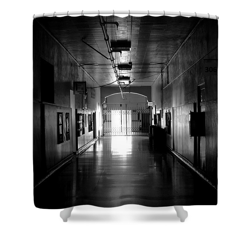 Pullman High School Shower Curtain featuring the photograph The Hallway by David Patterson
