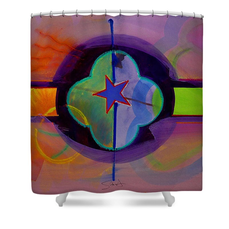 Star Shower Curtain featuring the painting The Happy American by Charles Stuart