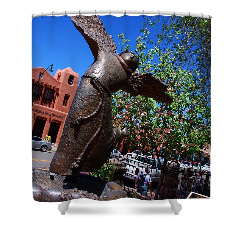 Sculpture Of San Franciskus Shower Curtain featuring the photograph The Happy San Francis by Susanne Van Hulst