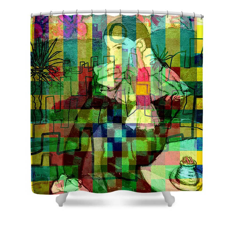 Picasso Shower Curtain Featuring The Painting Harlequins Dream After By Paul