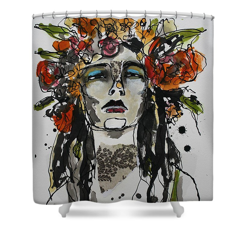 India Ink Shower Curtains