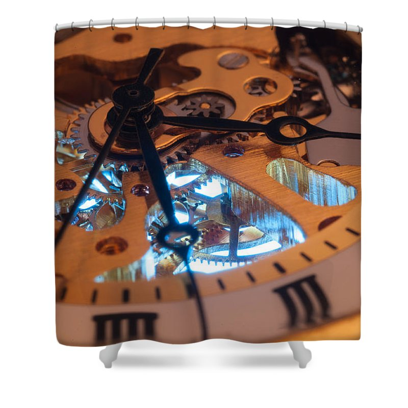 Macro Shower Curtain featuring the photograph The Heart Of The Machine by Matt Hicks