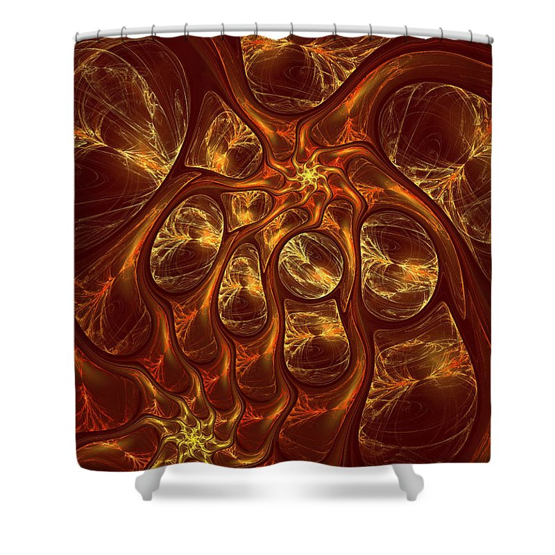 Digital Shower Curtain featuring the digital art The Hebben by Deborah Benoit