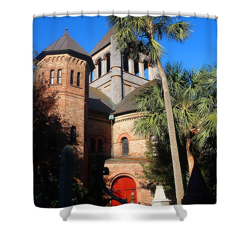 Photography Shower Curtain featuring the photograph The Holy City by Susanne Van Hulst