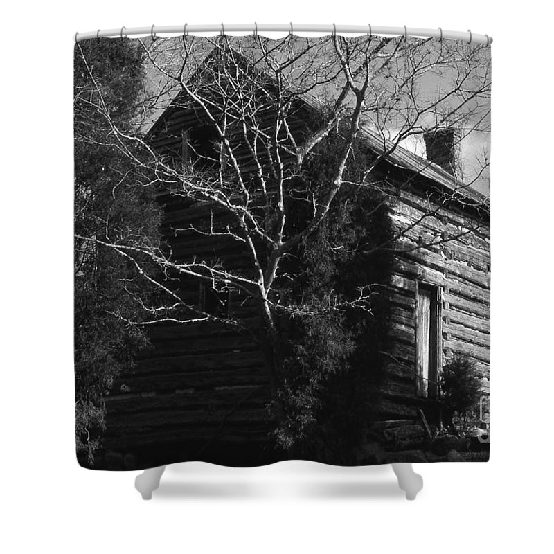 Cabins Shower Curtain featuring the photograph The Homestead by Richard Rizzo