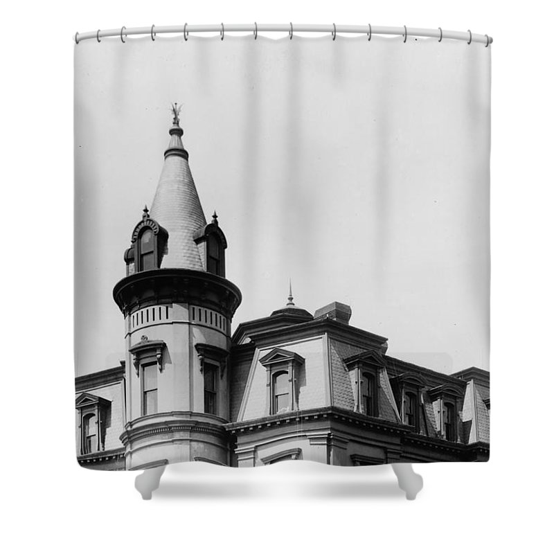 Shower Curtain featuring the photograph The House On Main 2016 by Christopher Kerby