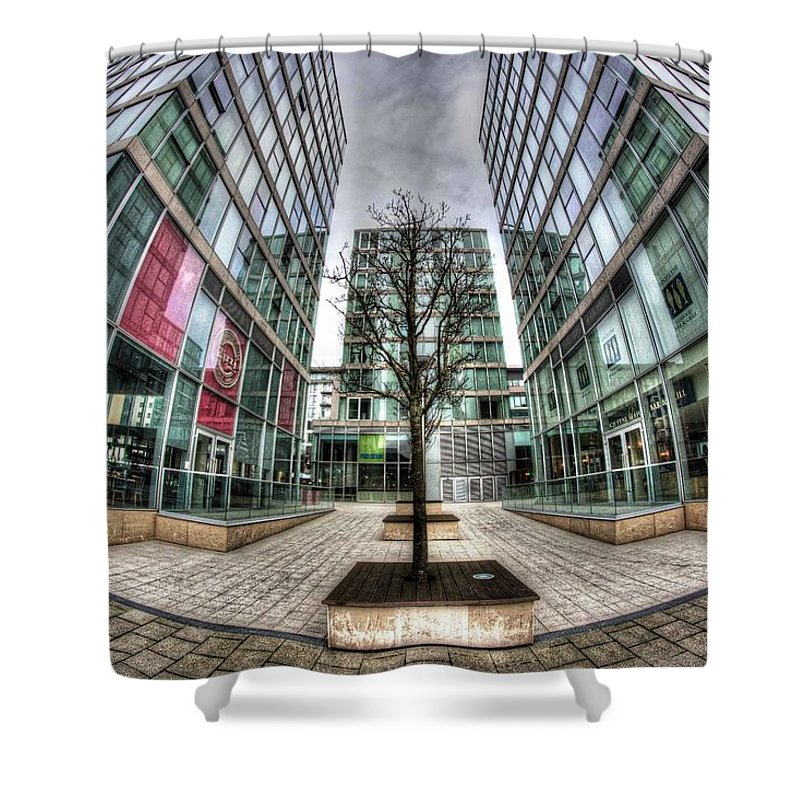 Shower Curtain featuring the photograph The Hub Milton Keynes by konTrast
