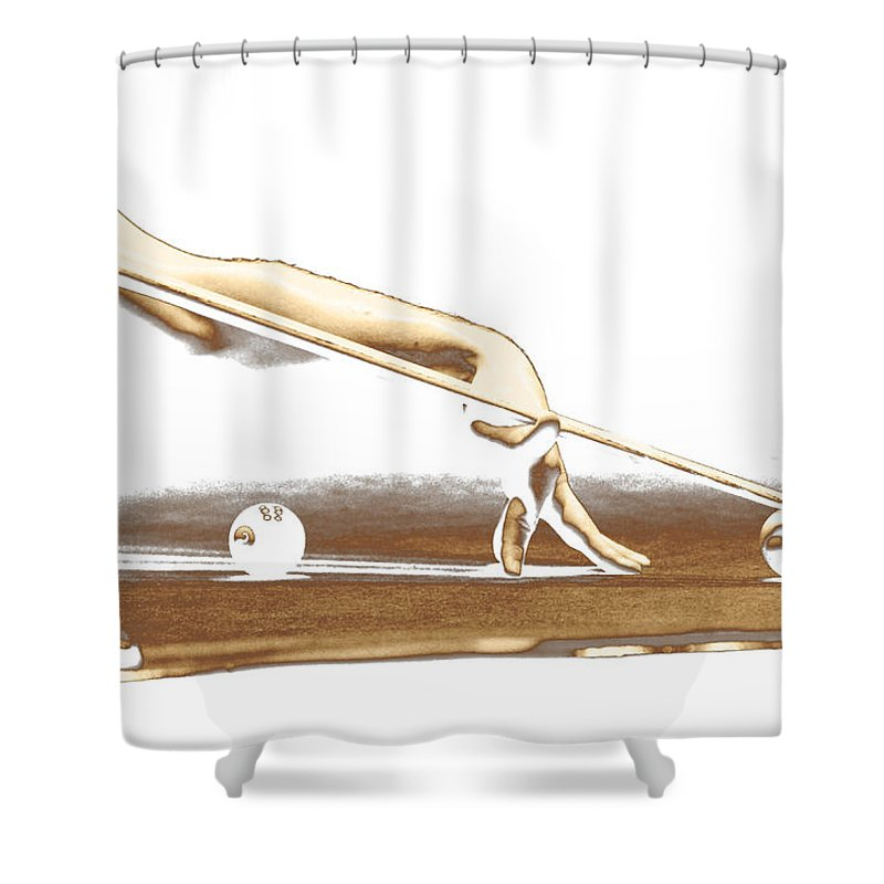 Abstract Shower Curtain featuring the photograph The Hustler by Holly Kempe