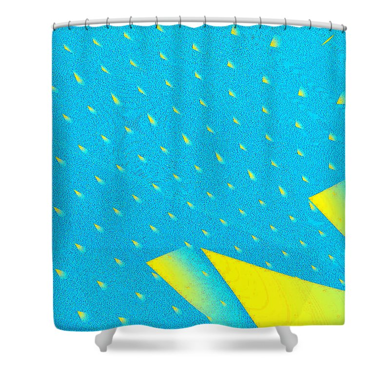 Clay Shower Curtain featuring the digital art The Illusion by Clayton Bruster