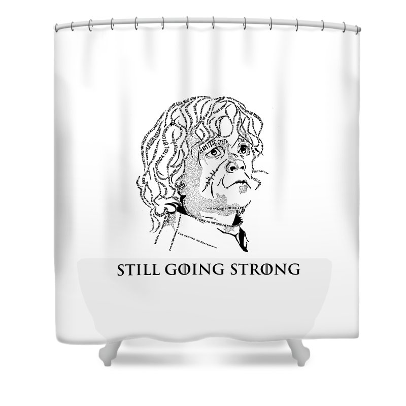 Tyrion Lannister Shower Curtain featuring the drawing The Imp by Vaidehi Panchal