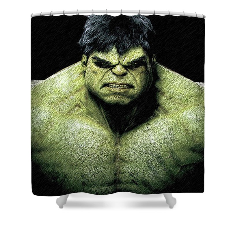 The Incredible Hulk Pencil Sketch Shower Curtain For Sale By Movie Poster Prints