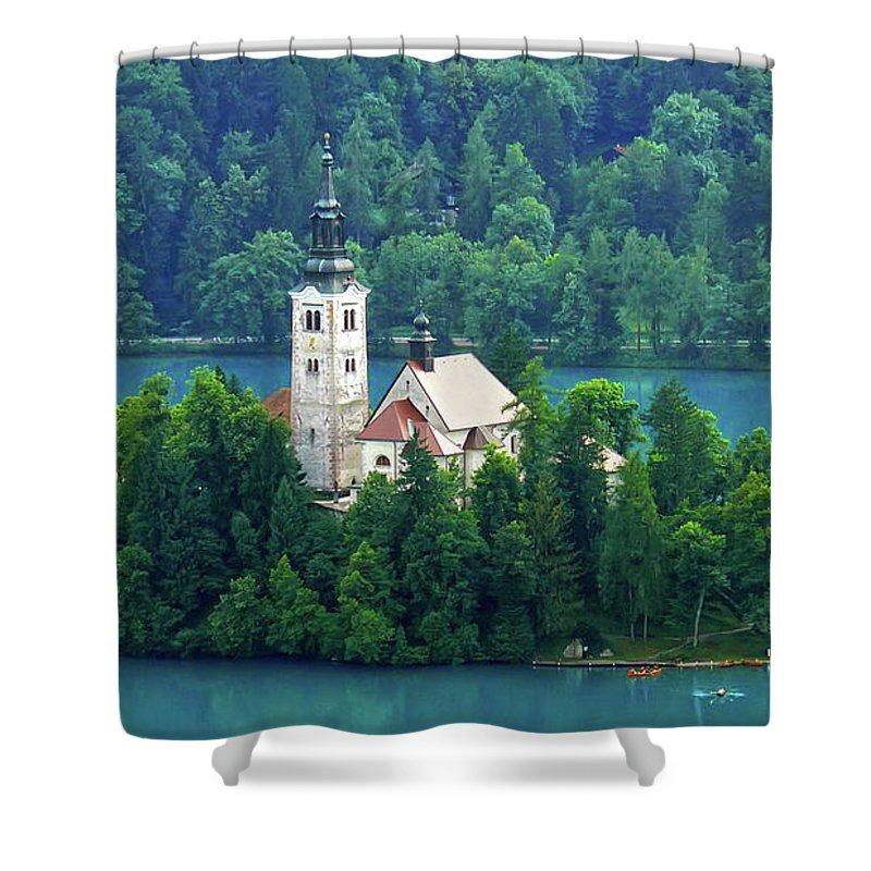 Island Shower Curtain featuring the photograph The Island by Daniel Csoka