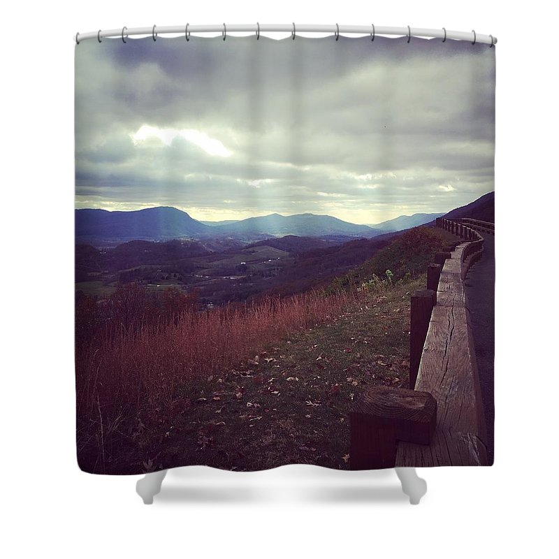 Landscape Shower Curtain featuring the photograph The Journey by Melissa Golden