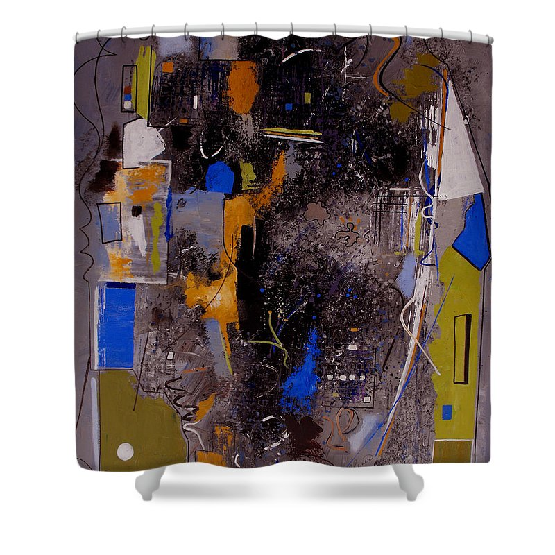Abstract Shower Curtain featuring the painting The Journey by Ruth Palmer