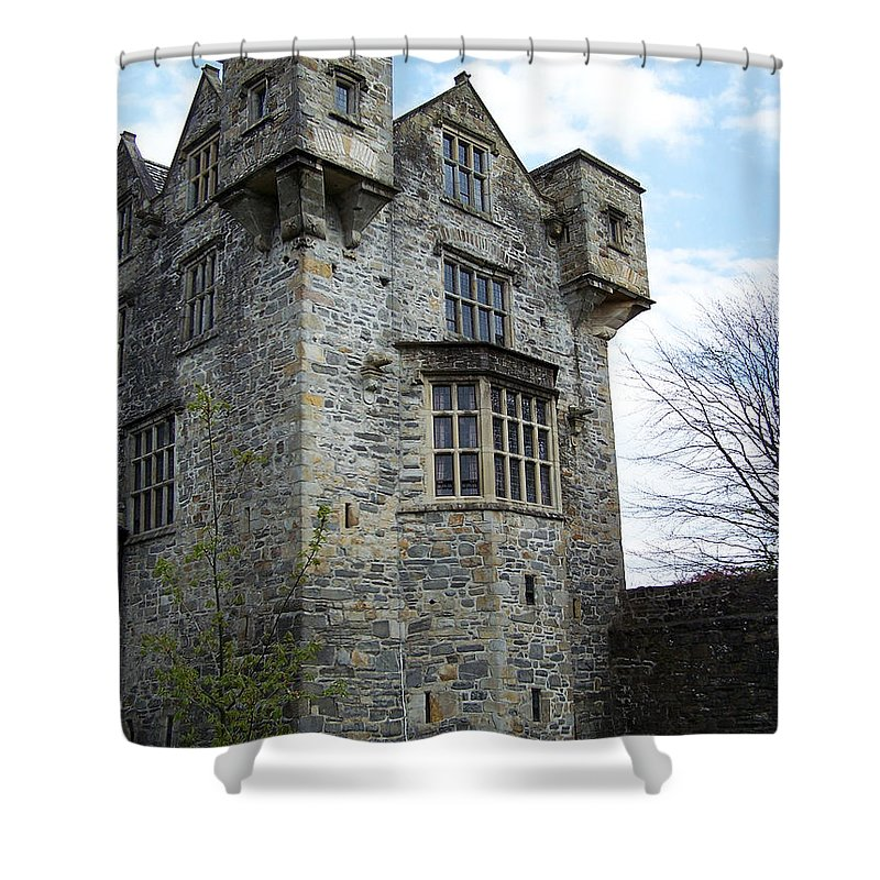 Ireland Shower Curtain featuring the photograph The Keep At Donegal Castle Ireland by Teresa Mucha