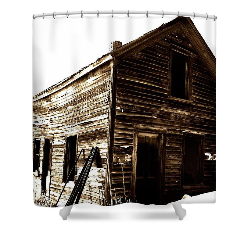 Window Shower Curtain featuring the photograph The Khata by The Artist Project